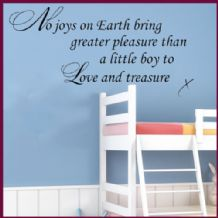 No Joys on Earth Baby Boy Nursery Art ~ Wall sticker / decals